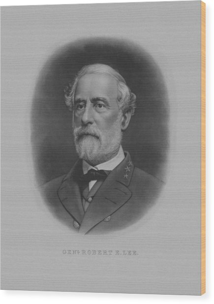 General Robert E. Lee Print Wood Print