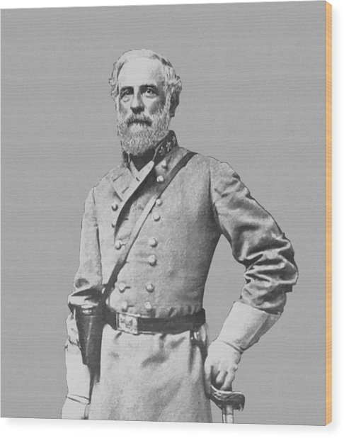 General Robert E Lee Wood Print