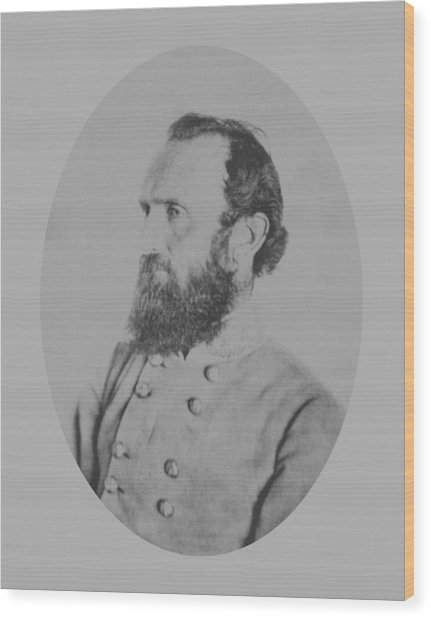 General Thomas Stonewall Jackson - Two Wood Print