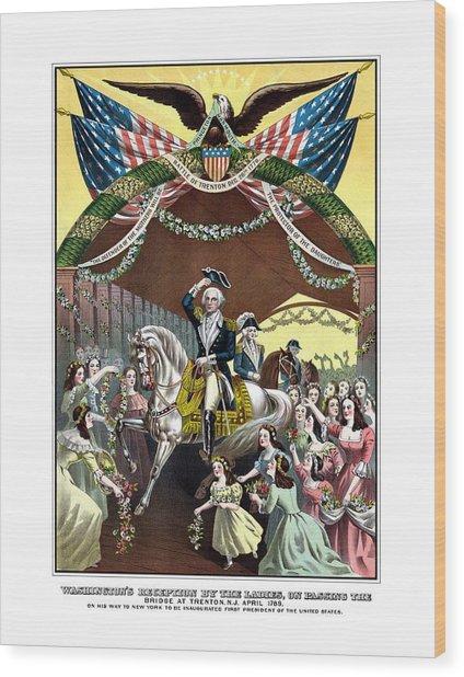 General Washington's Reception At Trenton Wood Print