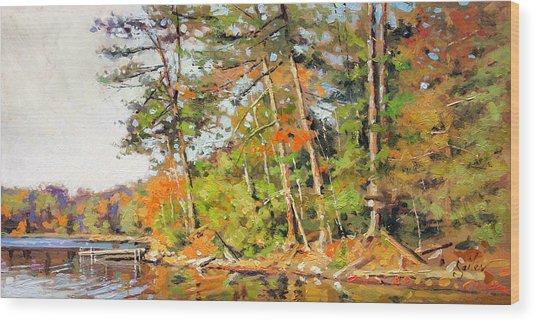 Generations Shore Wood Print by Larry Seiler