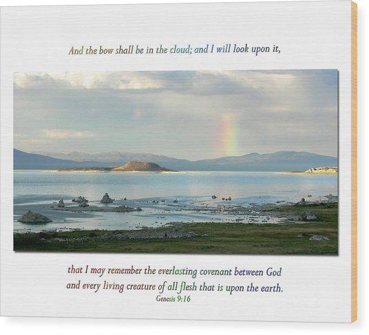 Genesis 9 Verse 16 Wood Print