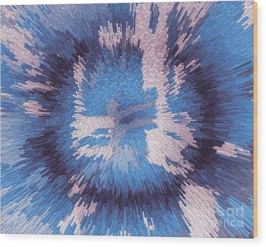 Genetic Engineering Flower Wood Print