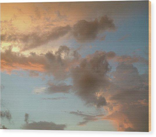Gentle Clouds Gentle Light Wood Print