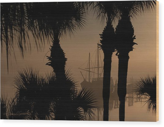 Foggy San Sebastian Sunrise Wood Print