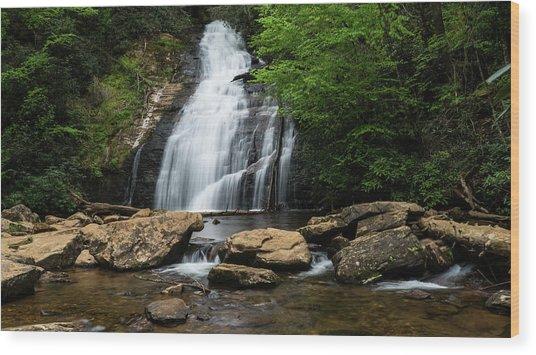Gentle Waterfall North Georgia Mountains Wood Print