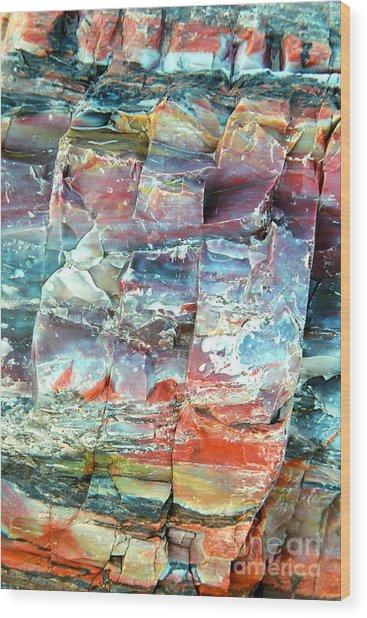 Geologist's Rainbow Wood Print