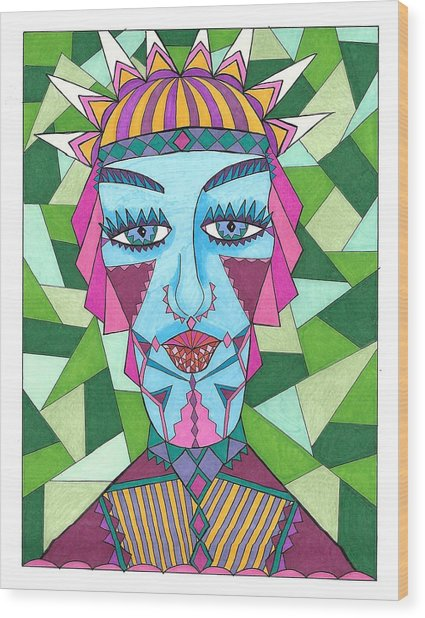Geometric King Wood Print