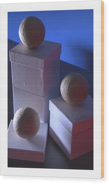 Geometric Triad Wood Print