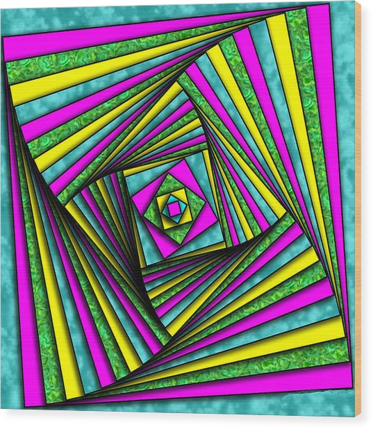 Geometry Art Wood Print