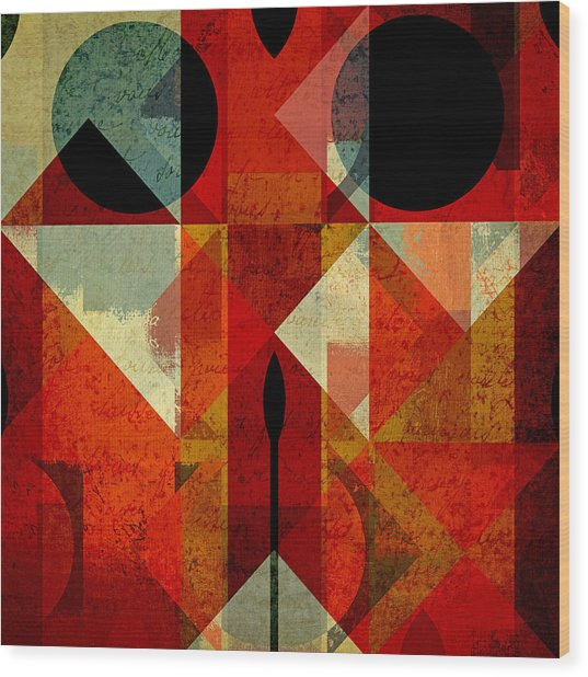 Geomix-04 - 39c3at22g Wood Print