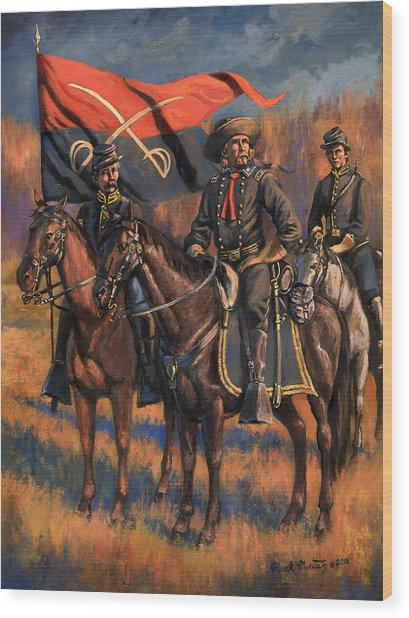 George Armstrong Custer Wood Print by Mark Maritato