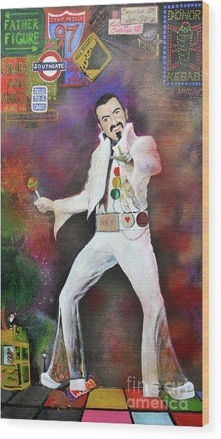 George Michael Gentlemen And Ladies Wood Print