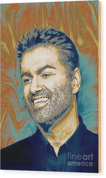 George Michael - Tribute  Wood Print