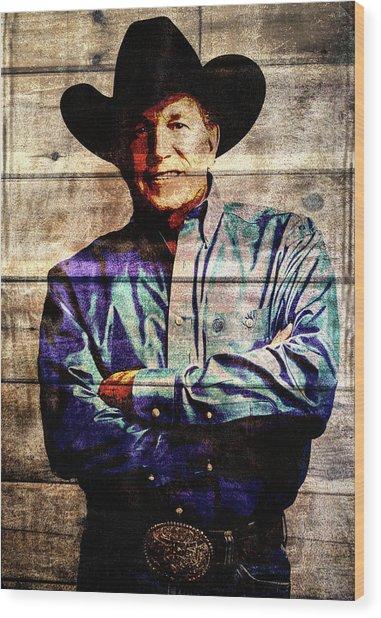 George Strait Wood Print