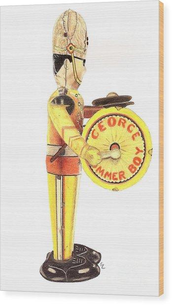 George The Drummer Boy Wood Print