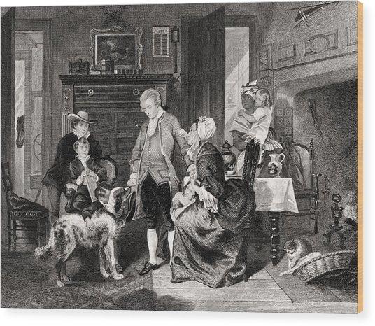 George Washington 1732 To 1799 Hears Wood Print