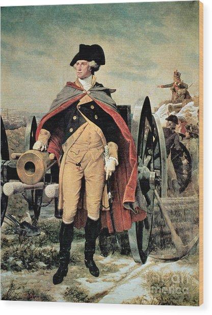 George Washington At Dorchester Heights Wood Print