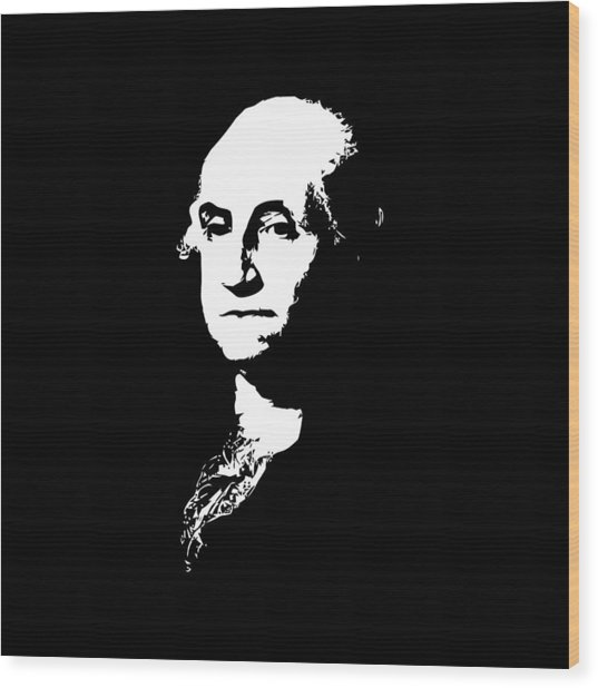 George Washington Black And White Wood Print