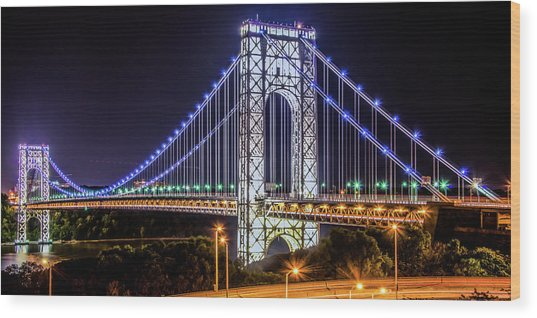 George Washington Bridge - Memorial Day 2013 Wood Print