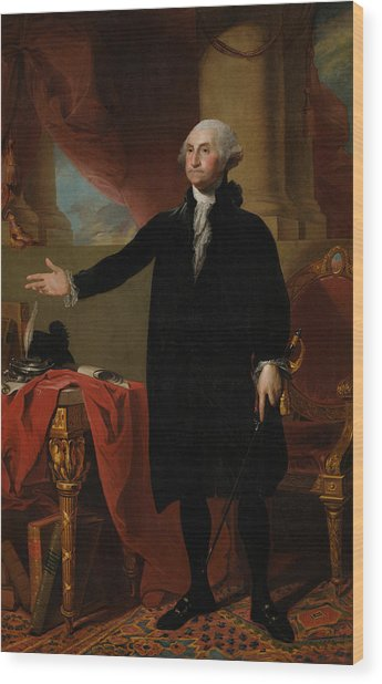 George Washington Lansdowne Portrait Wood Print