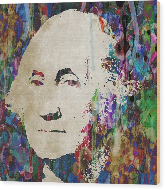 George Washington President Art Wood Print