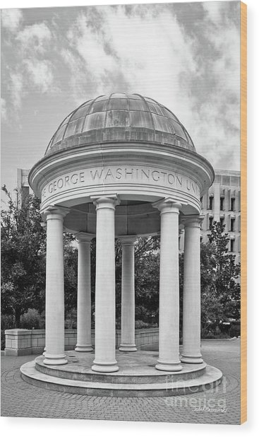 George Washington University Kogan Plaza Wood Print