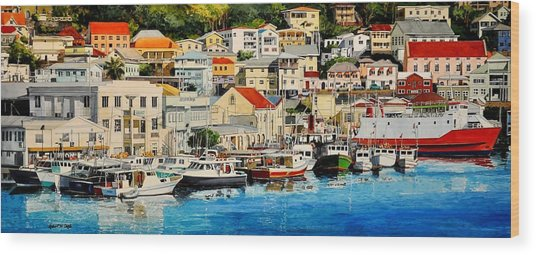 Georgetown Harbor, Grenada Wood Print