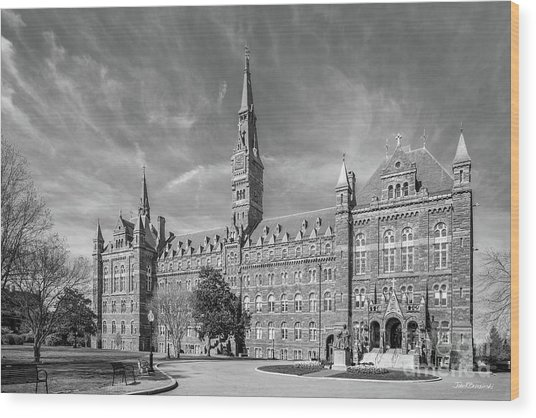 Georgetown University Healy Hall Wood Print