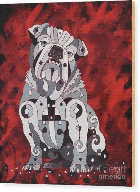 Georgia Bull Dog Wood Print