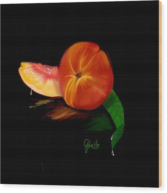 Georgia Peach Wood Print