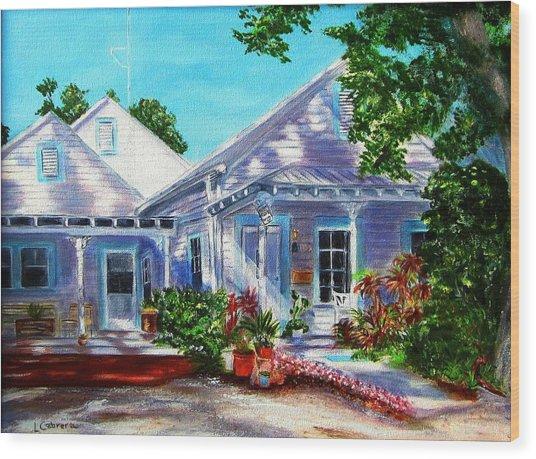 Georgia Street, Key West Wood Print