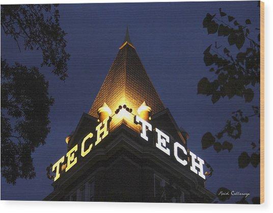 Georgia Tech Georgia Institute Of Technology Georgia Art Wood Print
