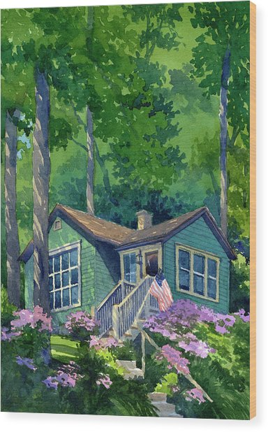 Georgia Townsend House Wood Print