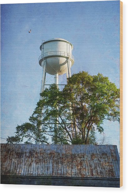 Wood Print featuring the photograph Georgia Water Tower by Whitney Leigh Carlson