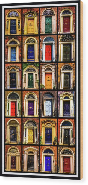 Georgian Doors Of Dublin 3 Wood Print