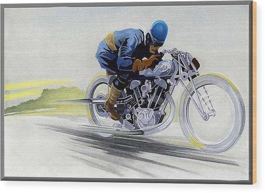 Geo's Bike Wood Print by Lyle Brown