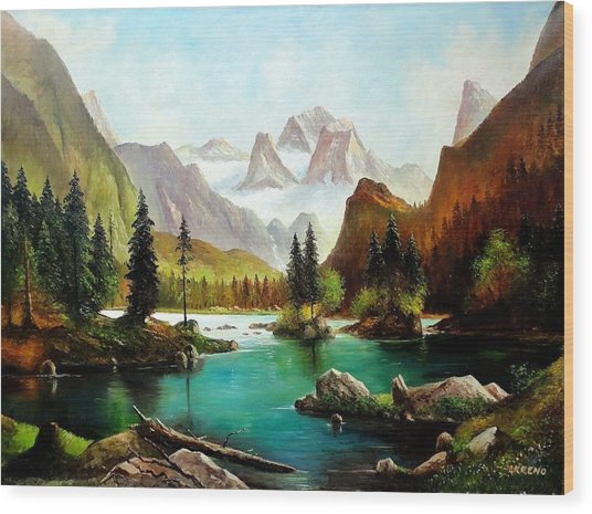 German Alps Wood Print