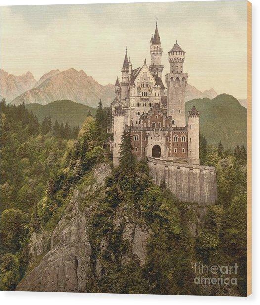 German Castle Neuschwanstein Wood Print