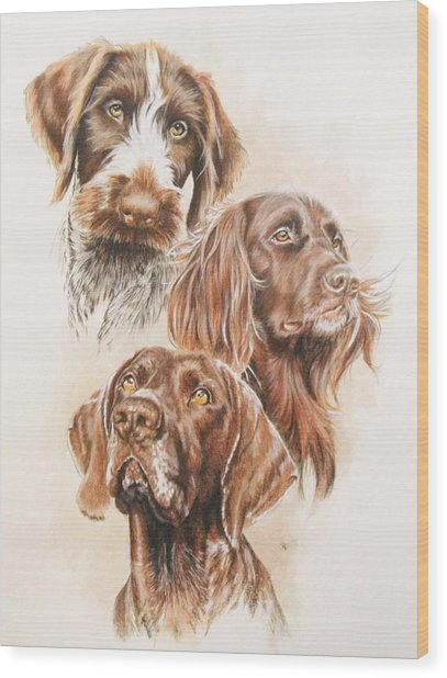 German Pointer Wood Print