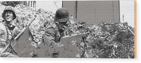 German Soldiers Battle Of Stalingrad Number 7 1942 Color Added 2016 Wood Print