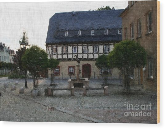 German Town Square Wood Print