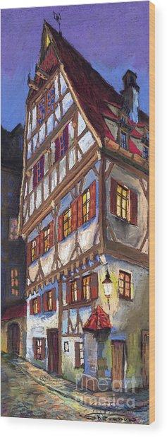 Germany Ulm Old Street Wood Print