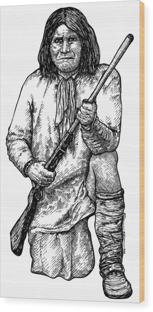 Geronimo Wood Print by Karl Addison