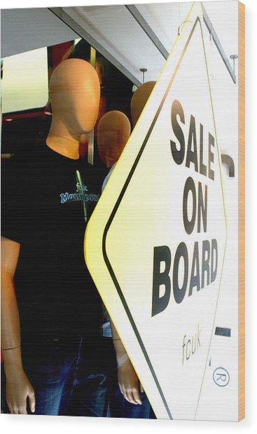 get on Board Wood Print by Jez C Self