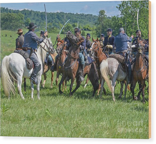 Gettysburg Cavalry Battle 7970c  Wood Print