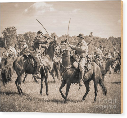 Gettysburg Cavalry Battle 7978s  Wood Print