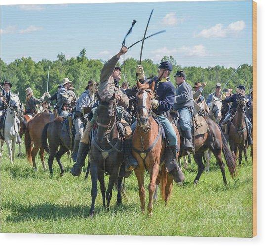 Gettysburg Cavalry Battle 7992c  Wood Print