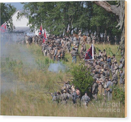 Gettysburg Confederate Infantry 8825c Wood Print