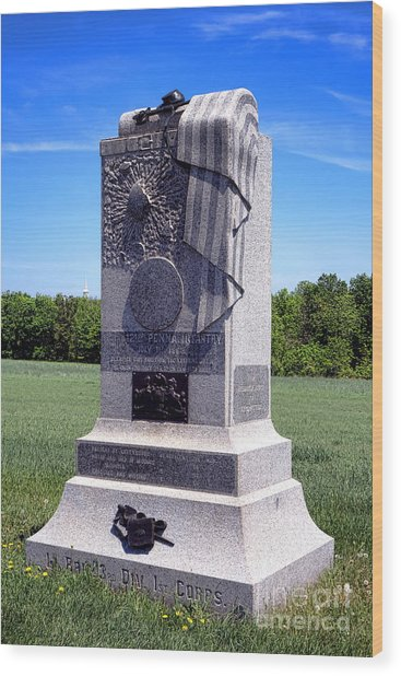 Gettysburg National Park 121st Pennsylvania Infantry Memorial  Wood Print